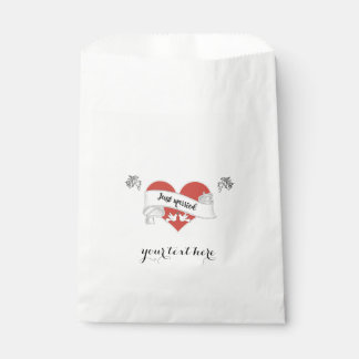 White Paper Wedding Favor Bag - Customizable