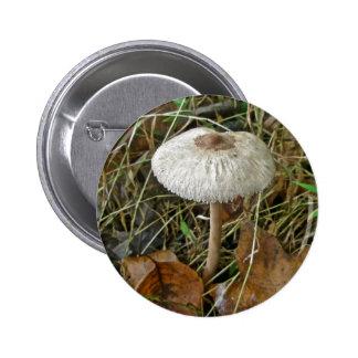 White Parasol Mushroom Coordinating Items Button