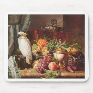 White Parrot exotic fruit bird cockatiel Mouse Mat