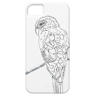 White parrot iPhone 5 covers