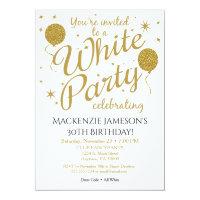 85th birthday cards invitations zazzle 85th birthday cards invitations white party invitation all white party invite filmwisefo Choice Image