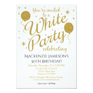 White Party Invitation All White Party Invite