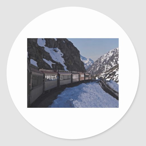 White Pass 22 Round Sticker