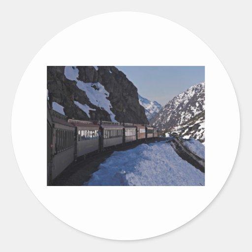 White Pass 22 Round Stickers