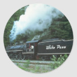 White Pass and Yukon in White Pass out of Skagway, Round Sticker