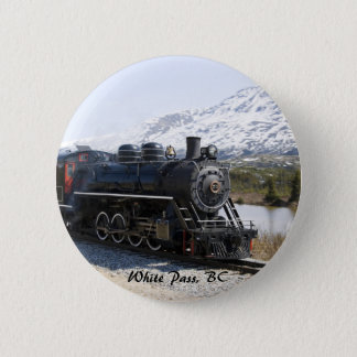 White Pass Train in Snow Button