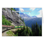 White Pass & Yukon Route Son Train Happy Birthday Card