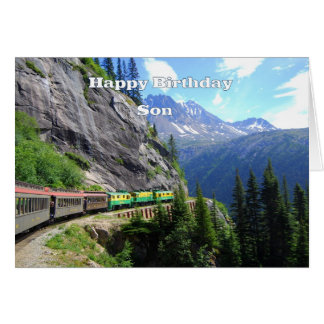White Pass & Yukon Route Son Train Happy Birthday Greeting Card