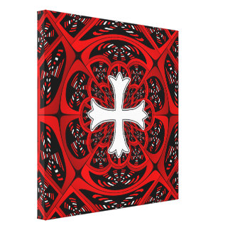 White patonce cross gallery wrapped canvas