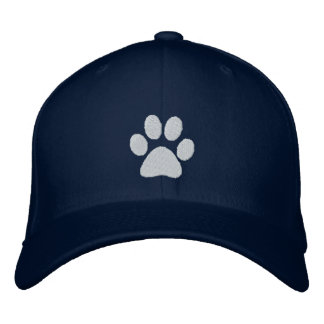 White Paw Embroidered Hats
