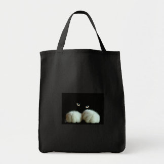 white paw grocery tote bag