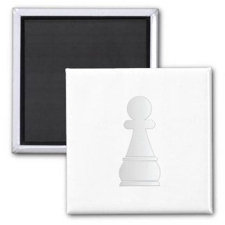 White pawn chess piece square magnet