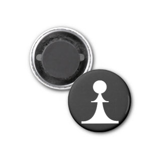 white pawn (you need 8) 3 cm round magnet