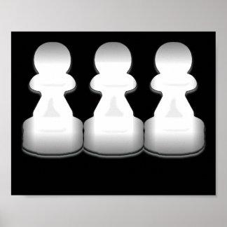 White Pawns - print