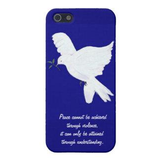 White Peace Dove-Quote iPhone 5 Case