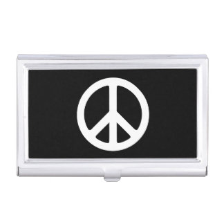 White Peace Symbol Template Business Card Holder