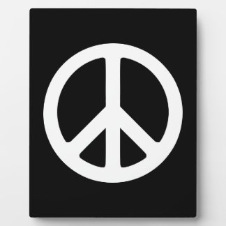 White Peace Symbol Template Plaque