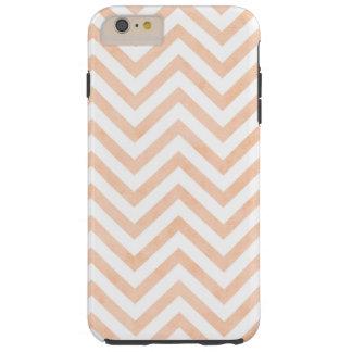 White Peach Chevrons iPhone 6/6s Plus, Tough Tough iPhone 6 Plus Case