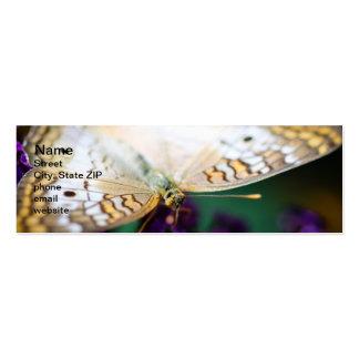 White Peacock Anartia Jatrophae Pack Of Skinny Business Cards