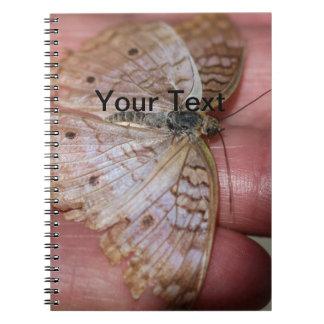 White Peacock Anartia Jatrophae Spiral Notebook