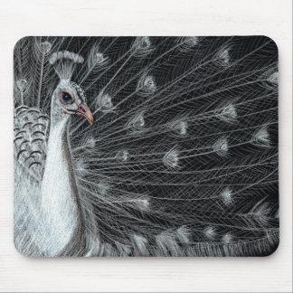 White Peacock Art Mousepad