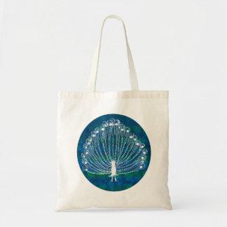 White Peacock Budget Tote Bag