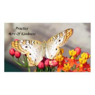 White Peacock Butterfly Acts of Kindness Cards Pack Of Standard Business Cards