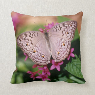 White Peacock Butterfly Cushions