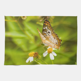 White Peacock Butterfly Towel