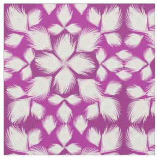 white peacock design fabric