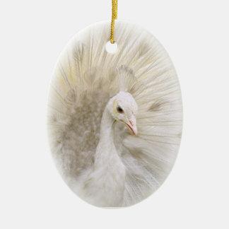 White Peacock Ornament