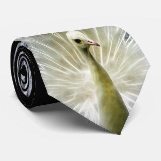 White Peacock Pavo Animalia Tie