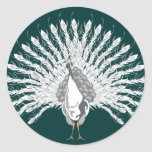 White Peacock Stickers