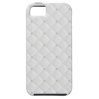 White Pearl Stud Quilted iPhone 5 Cover