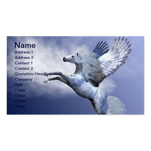 White Pegasus Business Card