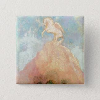 White Pegasus, c.1908 (oil on canvas) 15 Cm Square Badge
