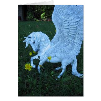 White Pegasus Card