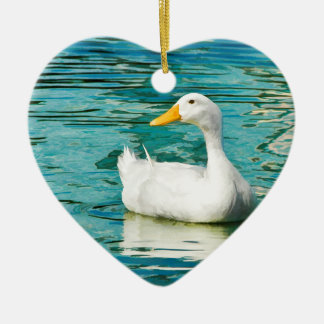 White Pekin Duck  - Nature Photo in Reflections Christmas Ornament