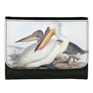 White Pelican Bird Wildlife Animals Wallet