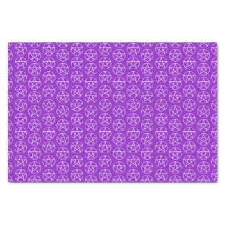 White Pentagram on Purple Tissue Paper