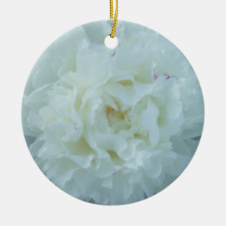 White Peonies Peony Flower Ornament