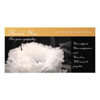 White Peony -1- Sympathy Thank You Photo Card