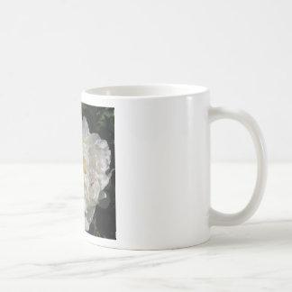 White Peony Blossom - photograph Mugs