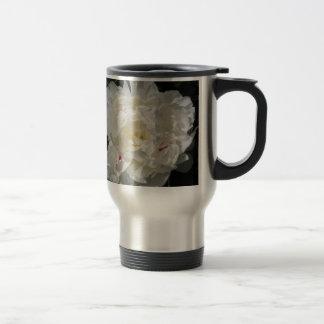 White Peony Blossom - photograph Coffee Mugs