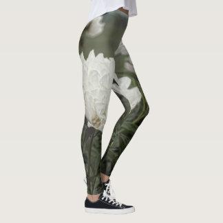 White Peony Leggings