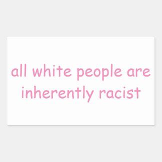 White People Rectangular Sticker