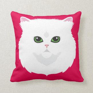 White Persian Cat Cushion