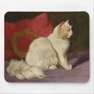 White Persian Cat Mousepads