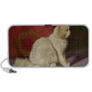 White Persian Cat Speakers