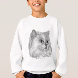 White Persian Cat Sweatshirt